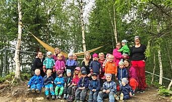 Ny forskning: Mer utetid i barnehagen gir bedre konsentrasjon på skolen