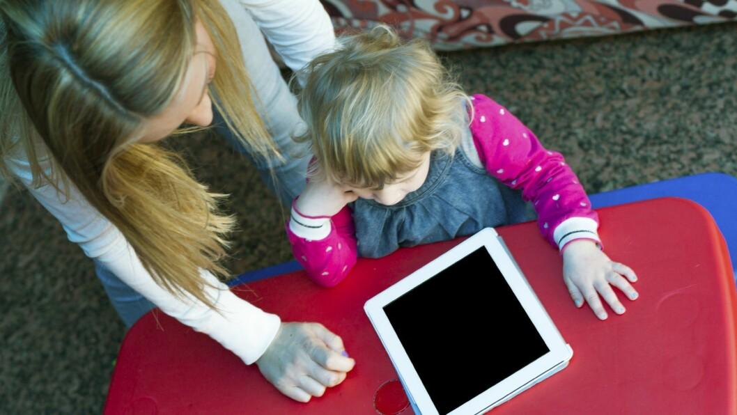 Kronikkforfatteren mener digitale verktøy brukes for lite i barnehagen i dag.