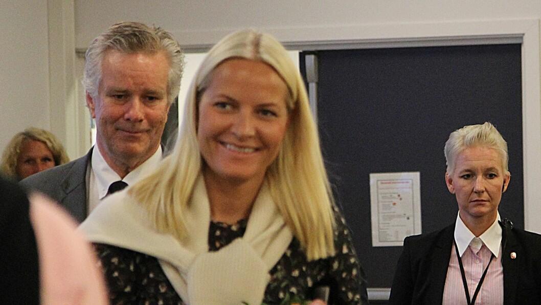 Eyvind Elgesem dir RBUP Øst og Sør og kronprinsesse Mette Marit på konferansen om kvalitet på RBUP.