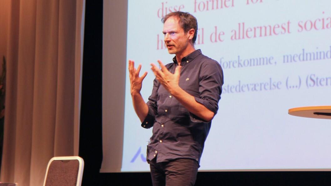 Professor ved Aarhus universitet i Danmark, Ole Henrik Hansen på barnehagekonferansen Nordiske Impulser.