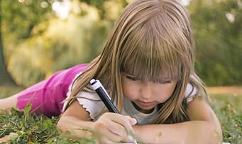 Skrivelek i barnehagen gjør at barn lettere lærer å lese