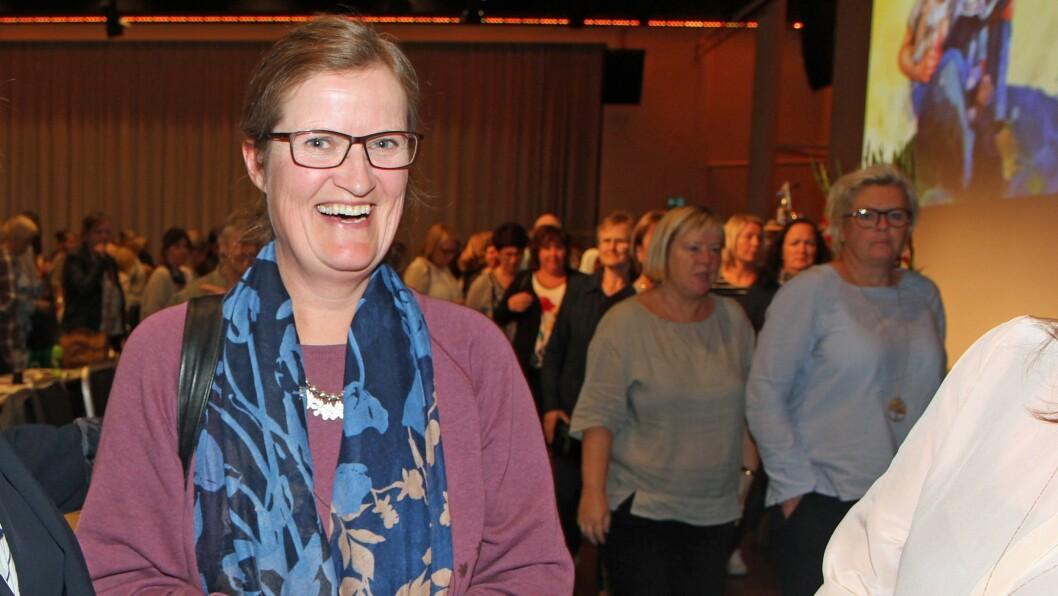 Professor ved Høgskolen i Oslo og Akershus og barnehagelærer Anne Greve på barnehagekonferansen Nordiske Impulser - med framtiden på fanget i regi av Barnehageforum og Utviklingsforum (arkivfoto).