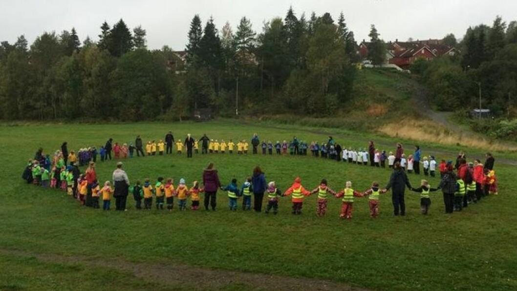 Over hundre barn deltok på den årlige aktivitetsdagen.