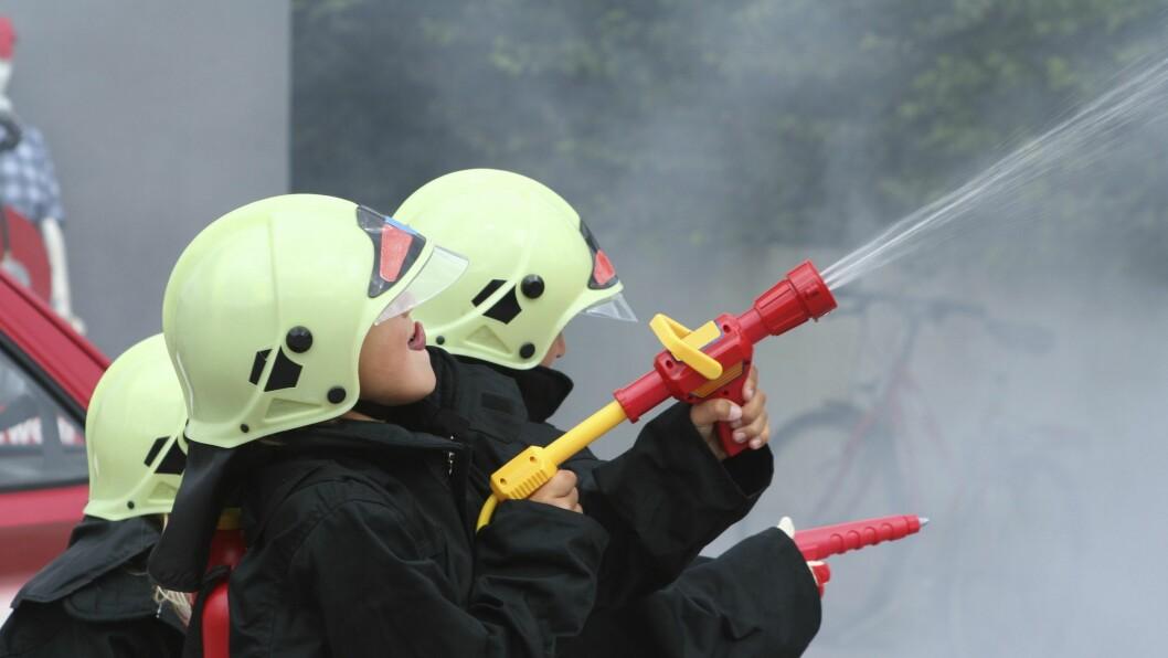 Det er viktig å ha brannøvelser i barnehagen.
