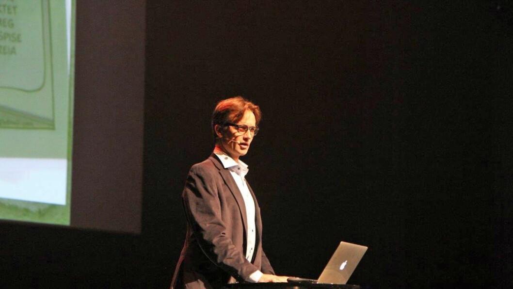 Reidar Hjermann på PBLs lederkonferanse i Bodø i september.