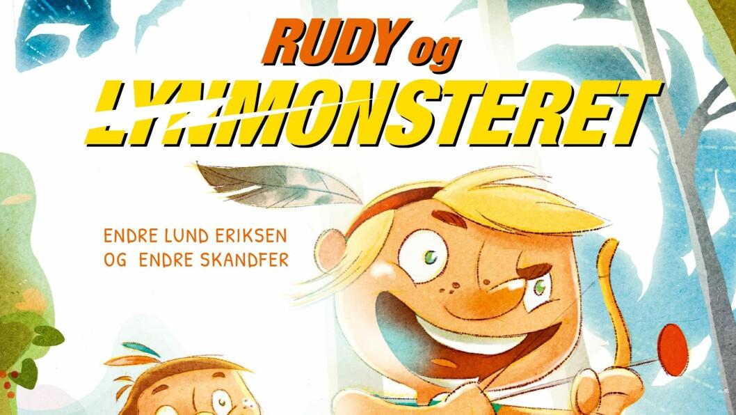 """""""Rudy og Lynmonsteret"""" av forfatter Endre Lund Eriksen og illustratør Endre Skandfer."""