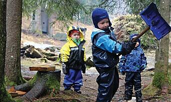 – Barnehagen er en viktig arena for å etablere friluftsvaner