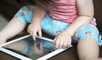 Skal lære småbarn skjermvett