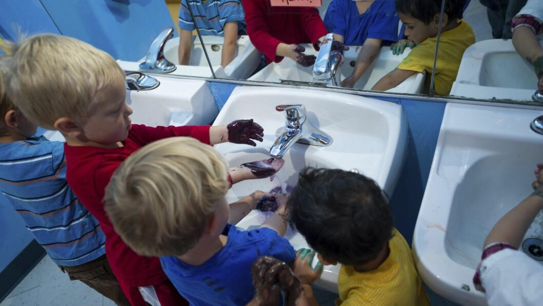 Bedre håndhygiene i barnehagene fører til mindre diaré og færre luftveisinfeksjoner, noe som igjen fører til at barna blir mindre syke.