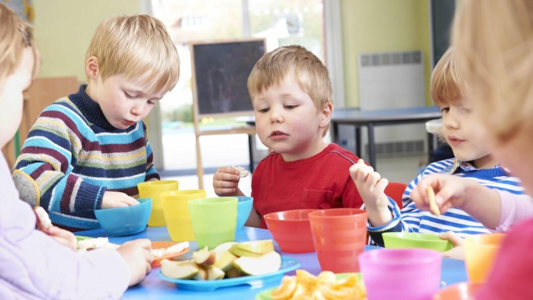 Utfordringene Mattilsynet ser hos barnehagene dreier seg mye om endret bruk og endret mattilbud i barnehagene. Foto: Istock.