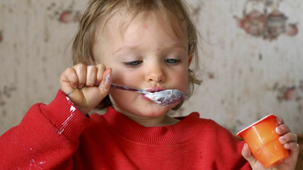 Yoghurt er nå nei-mat i bydel Alnas barnehager i Oslo.