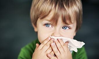 Fire av ti barnehagebarn har luftveisvirus