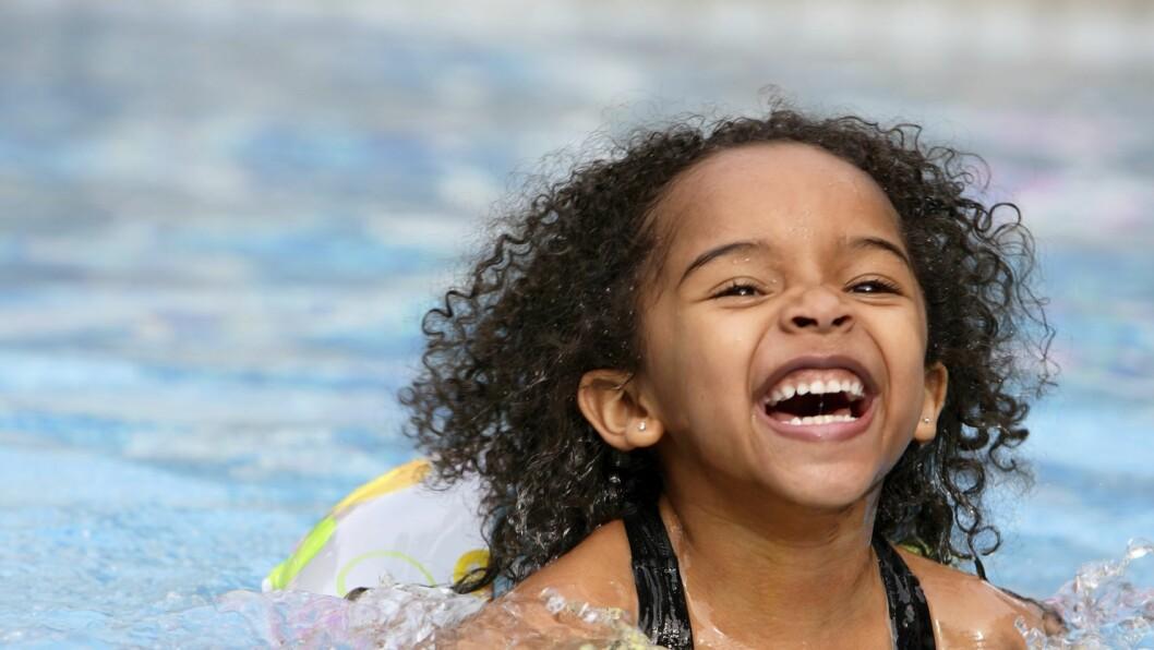 Svømmeundervisning tilbys også til barnehagebarn.