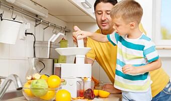 Fireåringer spiser for lite frukt og grønt