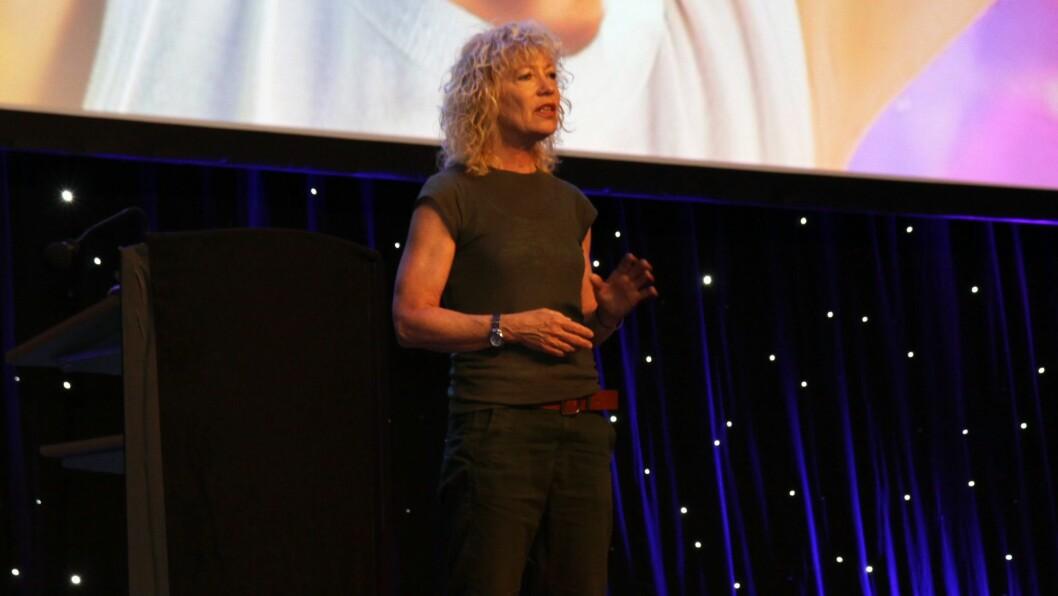 Margrete Wiede Aasland i aksjon under Barnehage 2016.