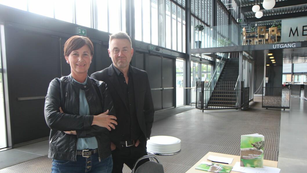 Terapeut og forfatter Line Melvold og filosof Einar Øverenget på Barnehage 2016.
