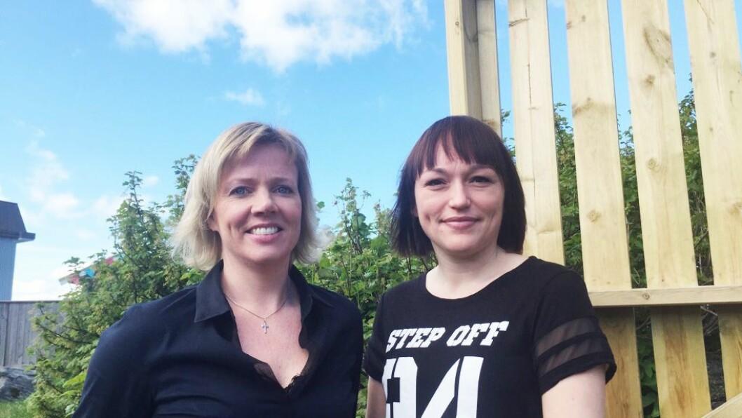 Daglig leder Sissel Hasund og nest- og pedagogisk leder Lena Leikanger i Almejordet barnehage.
