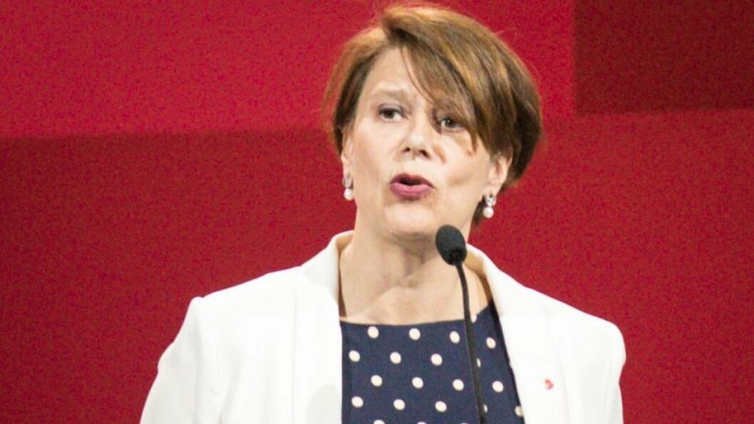 Byråd for Oppvekst og kunnskap Tone Tellevik Dahl, her fotografert under Arbeiderpartiets landsmøte.