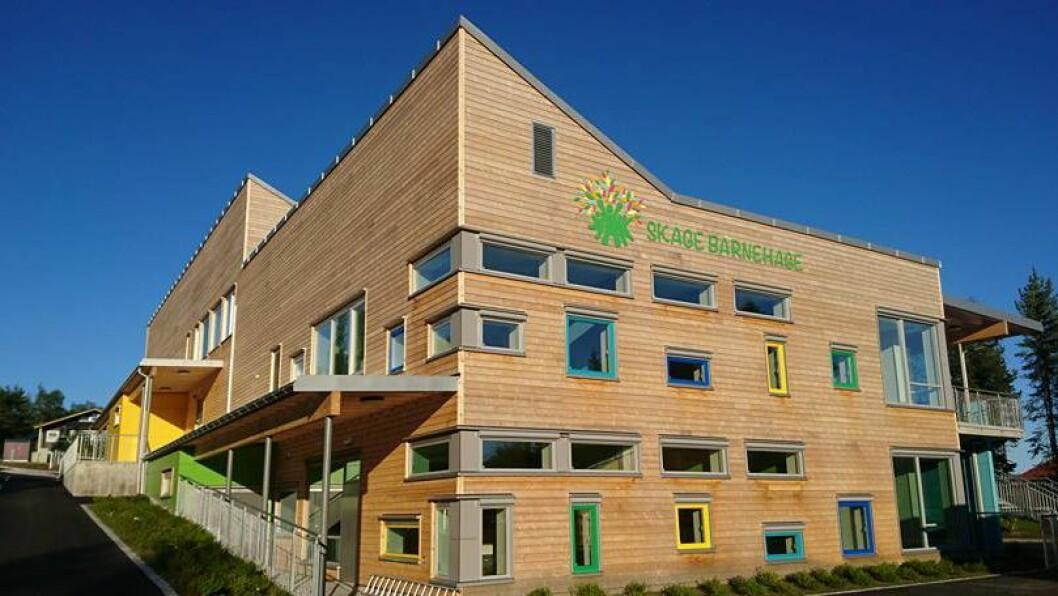 Skage barnehage i Overhalle kommune ble ferdig i juli 2017 med plass til 140 barn og rundt 50 voksne.