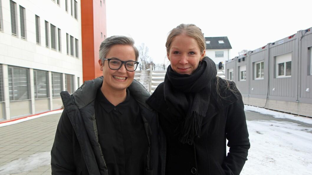 Rådgiver Hilde Arntsen og daglig leder i Rosa Kompetanse, Synne Hall Arnøy.