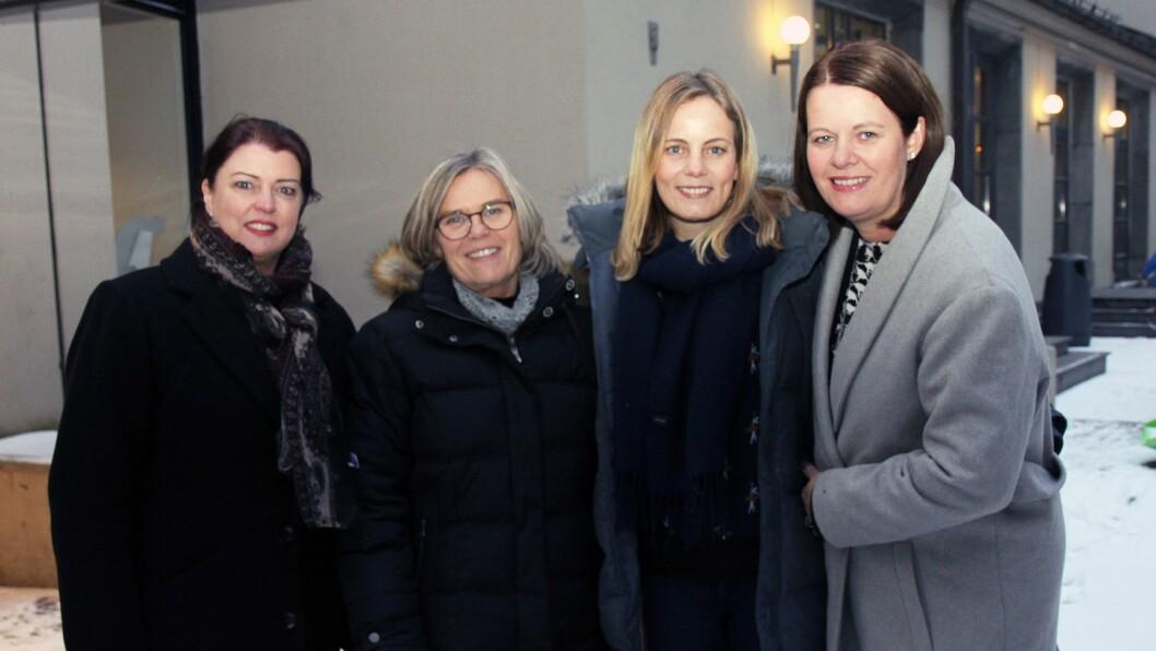 Fra venstre: Daglig leder i ULNA, Nina Wiik, leder for Stine Sofies Stiftelse, Ada Sofie Austegard, HR- og barnehagerådgiver i ULNA, Trude Børstad og personal- og barnehagesjef i ULNA, Laila Haugen.