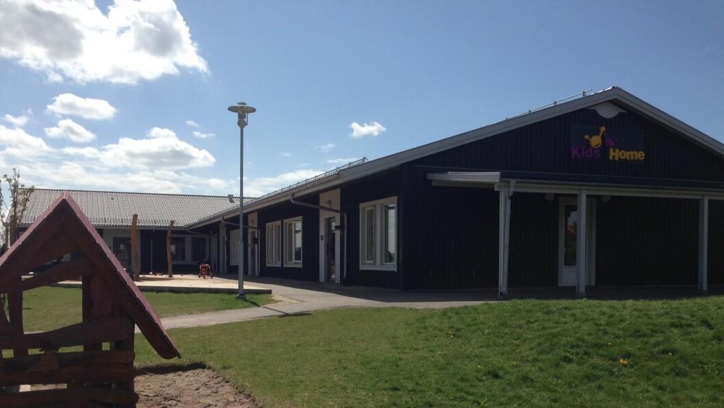 Denne Kids2Home-barnehagen i Hjärup, Sverige er en av 15 svenske barnehager som nå er kjøpt opp av Norlandia.