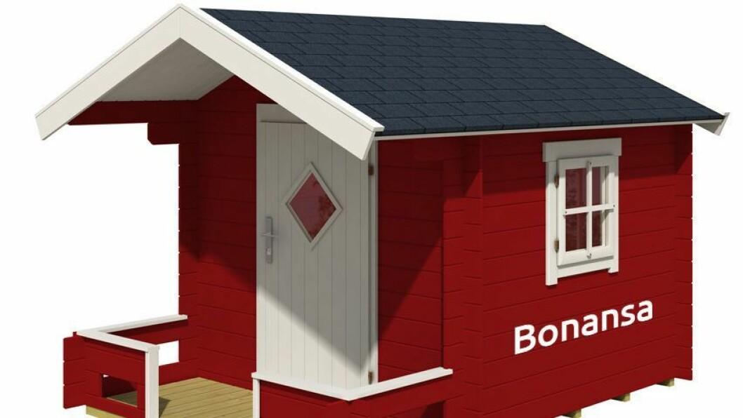 Har du lyst på et lekehus? Da må du tegne drømmehuset ditt – og sende det til Bonanse. Premien er lekehuset på bildet. Det har en verdi på 10.000 kroner.