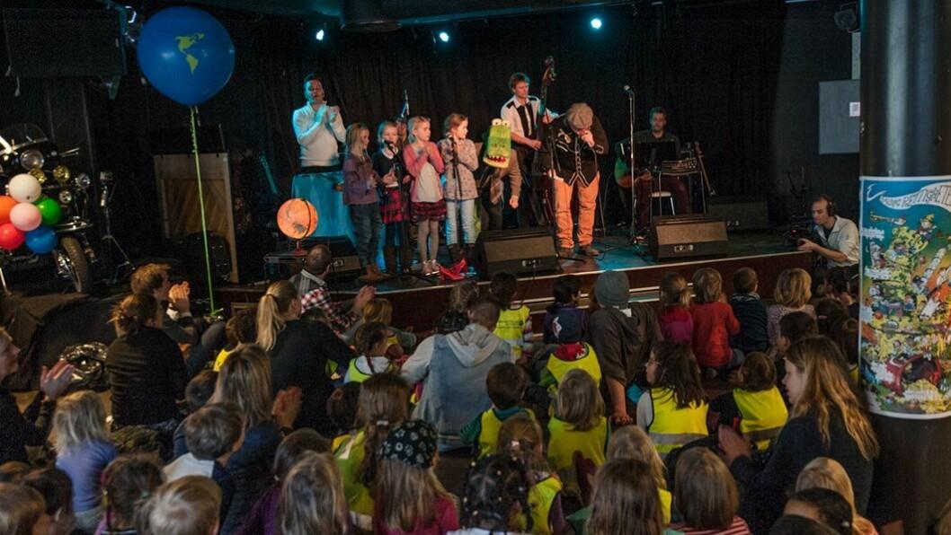 Det var stor stemning på Vanguard i Oslo når sangene ble fremført for barn for første gang.