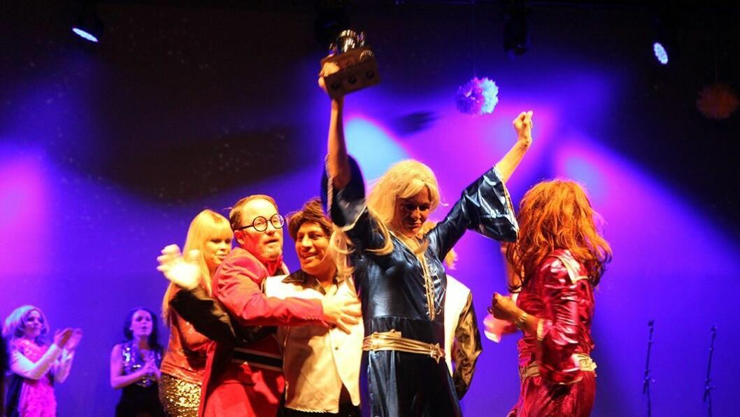 Feiret i feiring: Abba vant melodifestivalen under Lille Frøbels tiårsfeiring.