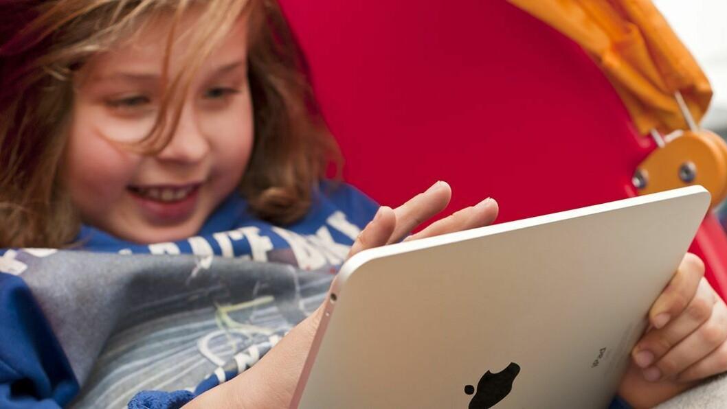 Økt bruk: Mange barn bruker nettbrett fra de er ett år gamle.