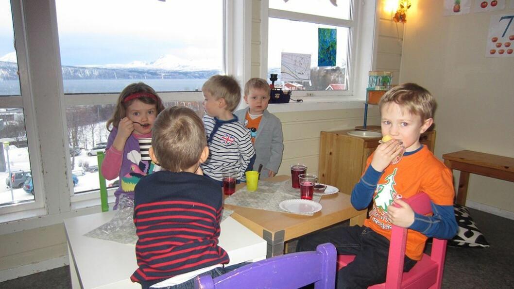 Jubilant: Furutoppen barnehage i Narvik feiret 20-årsjubileum.