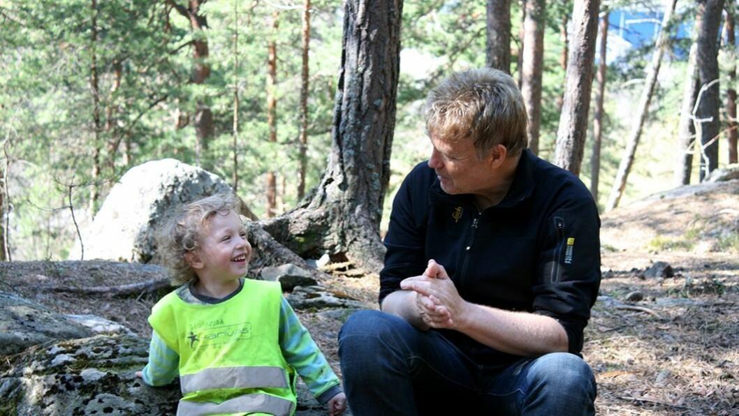 Hilsen til superassistent: Kristine Karlsen Tøien sendte en hilsen til Trond Myhrvold (bildet) og Kari-Mette Rustad i Rudshøgda Kanvas-naturbarnehage som hele barnehagen satte stor pris på.