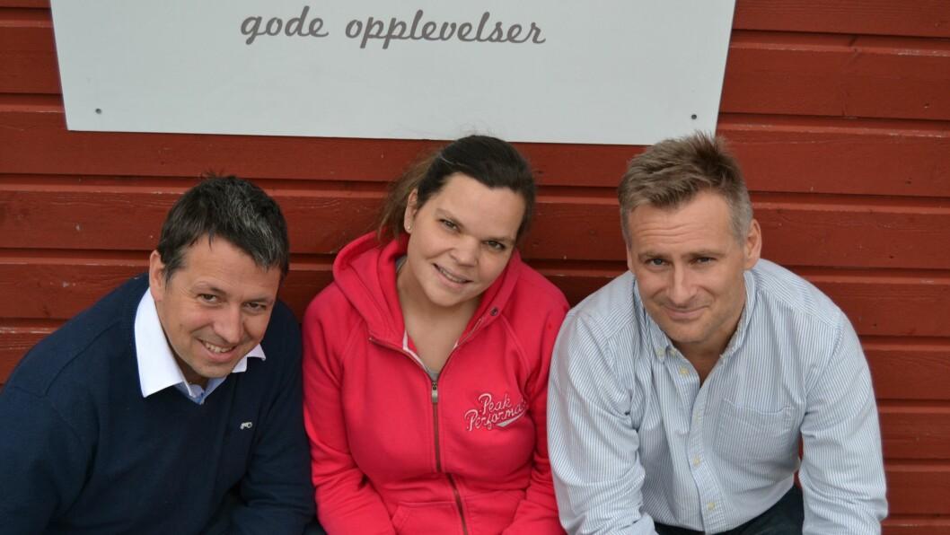 Eventus-teamet. Eier Kjetil Tuvin Hopen, utviklingssjef Monica og administrerende direktør Thomas Hopland.