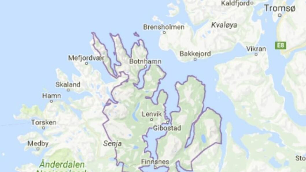 Lenvik kommune ligger i Troms.