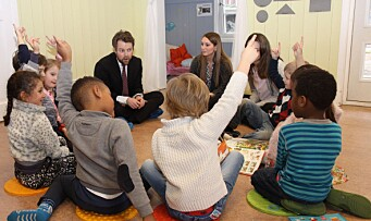 Kunnskapsministeren vil ha strengere språkkrav i barnehagen