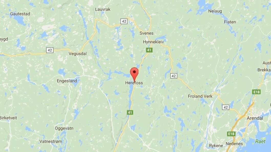 En barnehage på Herefoss i Birkenes kommune holder stengt mandag grunnet strømbrudd.