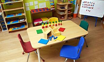 Overvåker alle rom i barnehagen