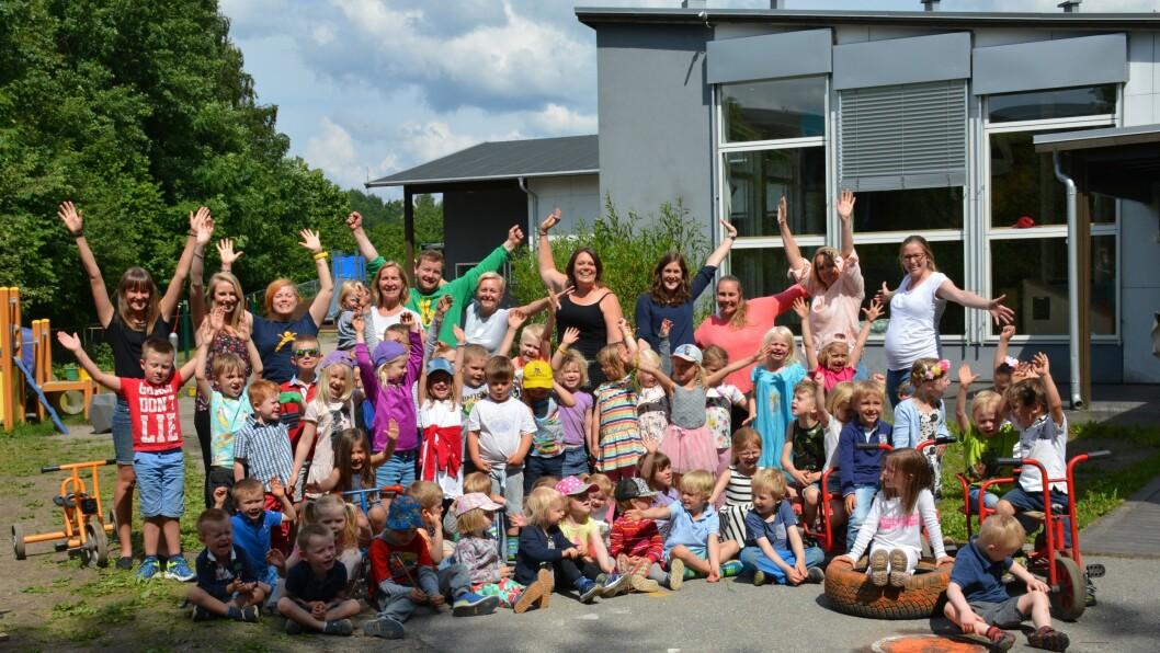 """Den blå appelsin Kanvas barnehage er nominert til """"Årets barnehage"""" sammen med sju andre barnehager fra hele landet."""