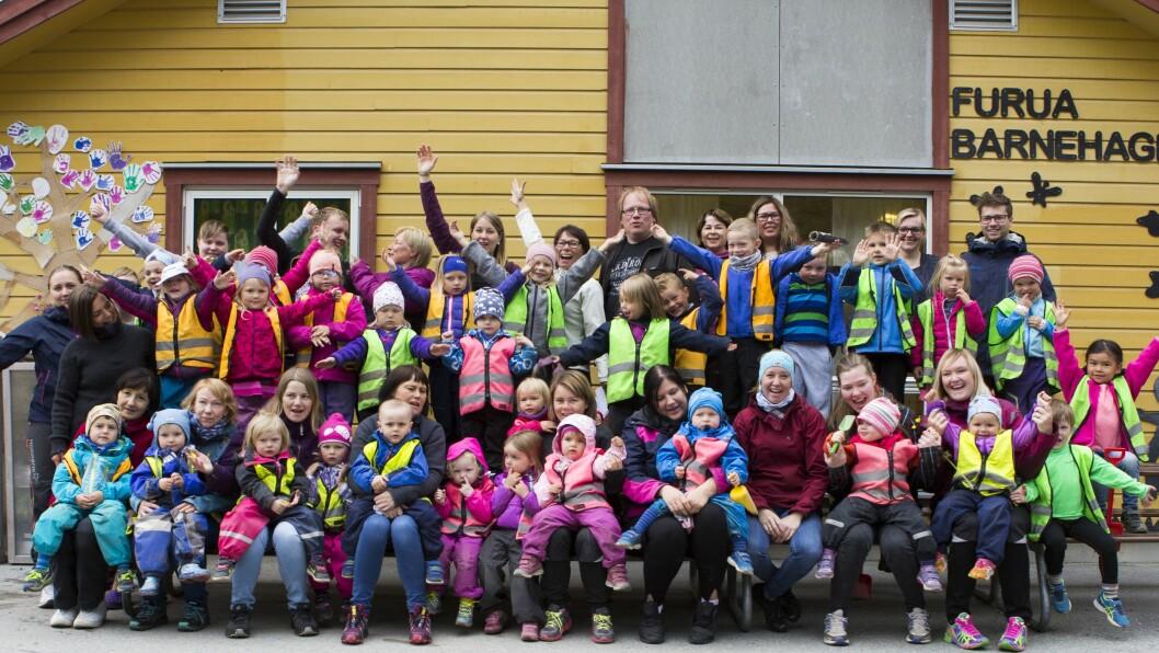 Furua barnehage i Alta har en sterk utelivsprofil og er glade for å være en av finalistene i