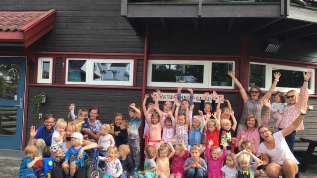 """Flåklypa barnehage i Bærum gleder seg stort over å være en av åtte finalister til tittelen """"Årets Barnehage""""."""
