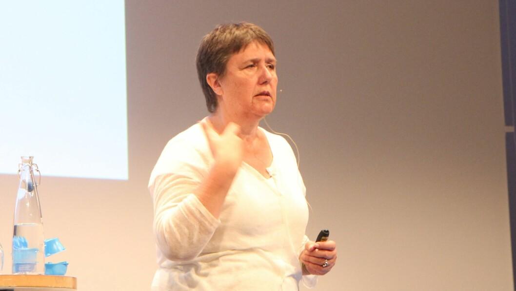 Psykolog, forfatter og sjef for Dansk Center for International Child Development Program (ICDP), Anne Linder på barnehagekonferansen Nordiske Impulser.
