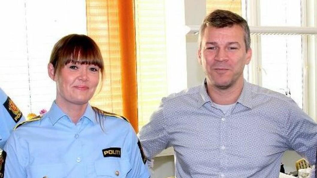 Ståle Luther, leder for Statens Barnehus i Tromsø, og Lise Folkestad, politioverbetjent og koordinator for familievold og seksuelle overgrep.