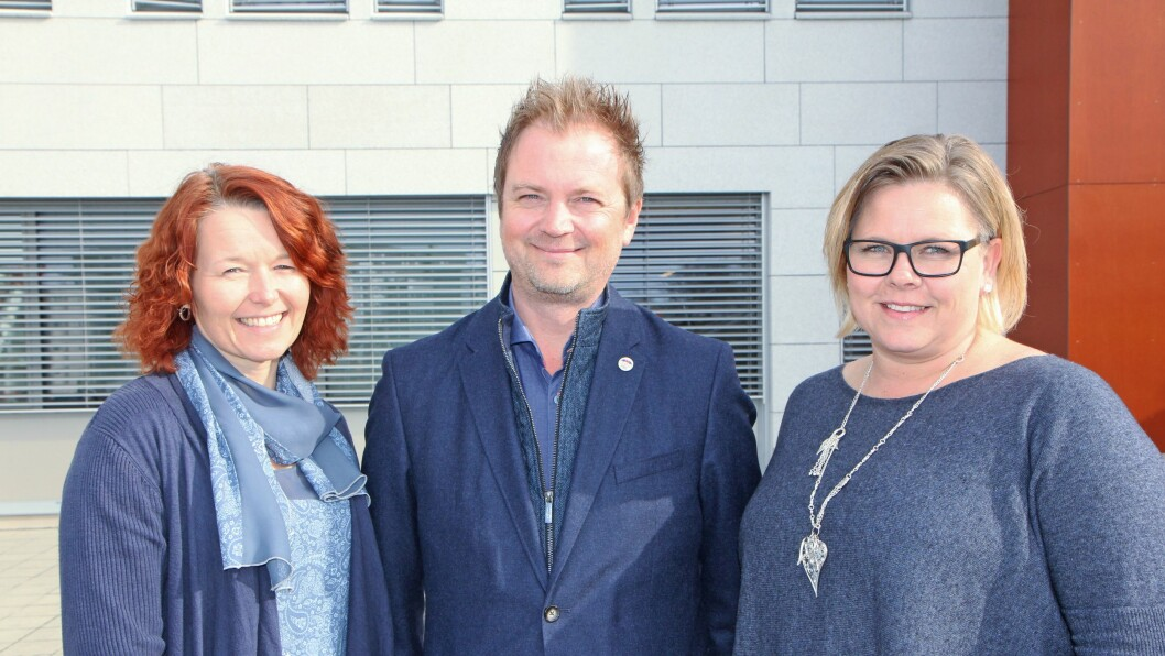 Nestleder i PBLs styre, Ragnhild Finden eier Kausvol Gardsbarnehage, styreleder Eirik Husby eier Borg Barnehager AS og styremedlem Therese Børke er daglig leder i barnehagen Mormors Have.