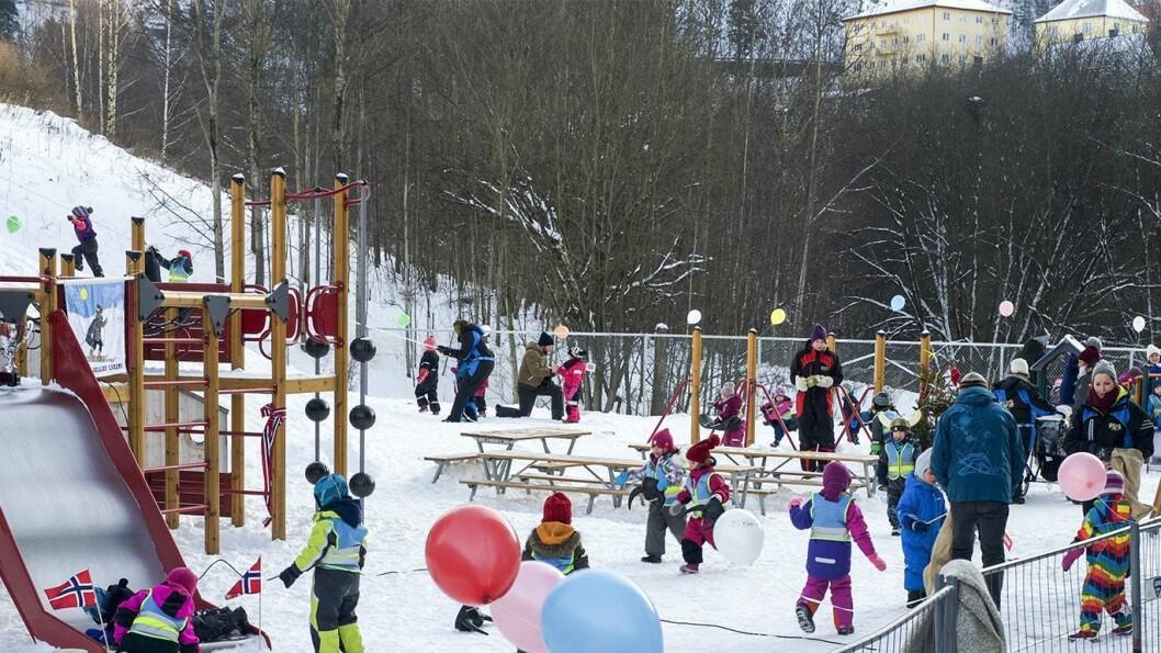 120 barn fra tre FUS-barnehager deltok på Arnljot Gelline-lekene.