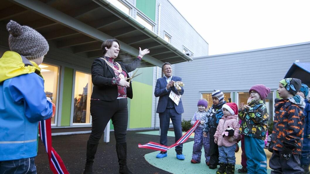 Ordfører Marte Mjøs Persen (Ap) sto for den høytidelige åpningen.