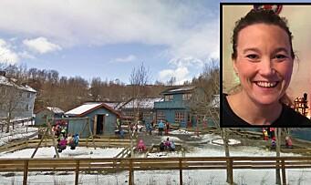 Da kollegaen mistet mannen i en tragisk ulykke, tråkket Christina og de andre i barnehagen til
