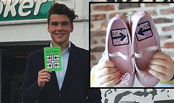 Andreas fikk ideen da han så hvor ofte barna fikk skoene på feil fot