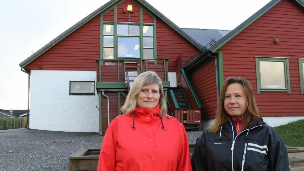 Styrer Gro Hovland og verneombud Regina Gjørøy i Nyheimvegen barnehage.
