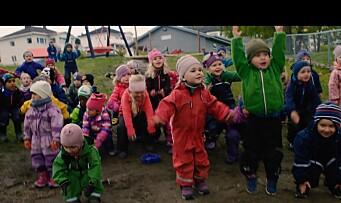 Da barnehagens musikkvideo var klar, sto jubelen i taket