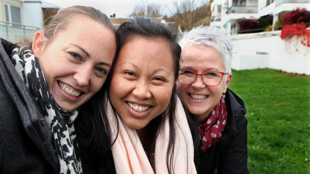 Vibeke Jørnsen Lerdahl, Kanja Nakthong og Kari Anna Sandvik i Alvens ønsker å heve både kvaliteten og statusen blant vikarer i barnehagene.